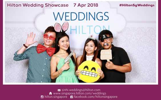 Cloud Booth Photo Booth @ Hilton Singapore's Wedding Showcase on 7 & 15 April 2018