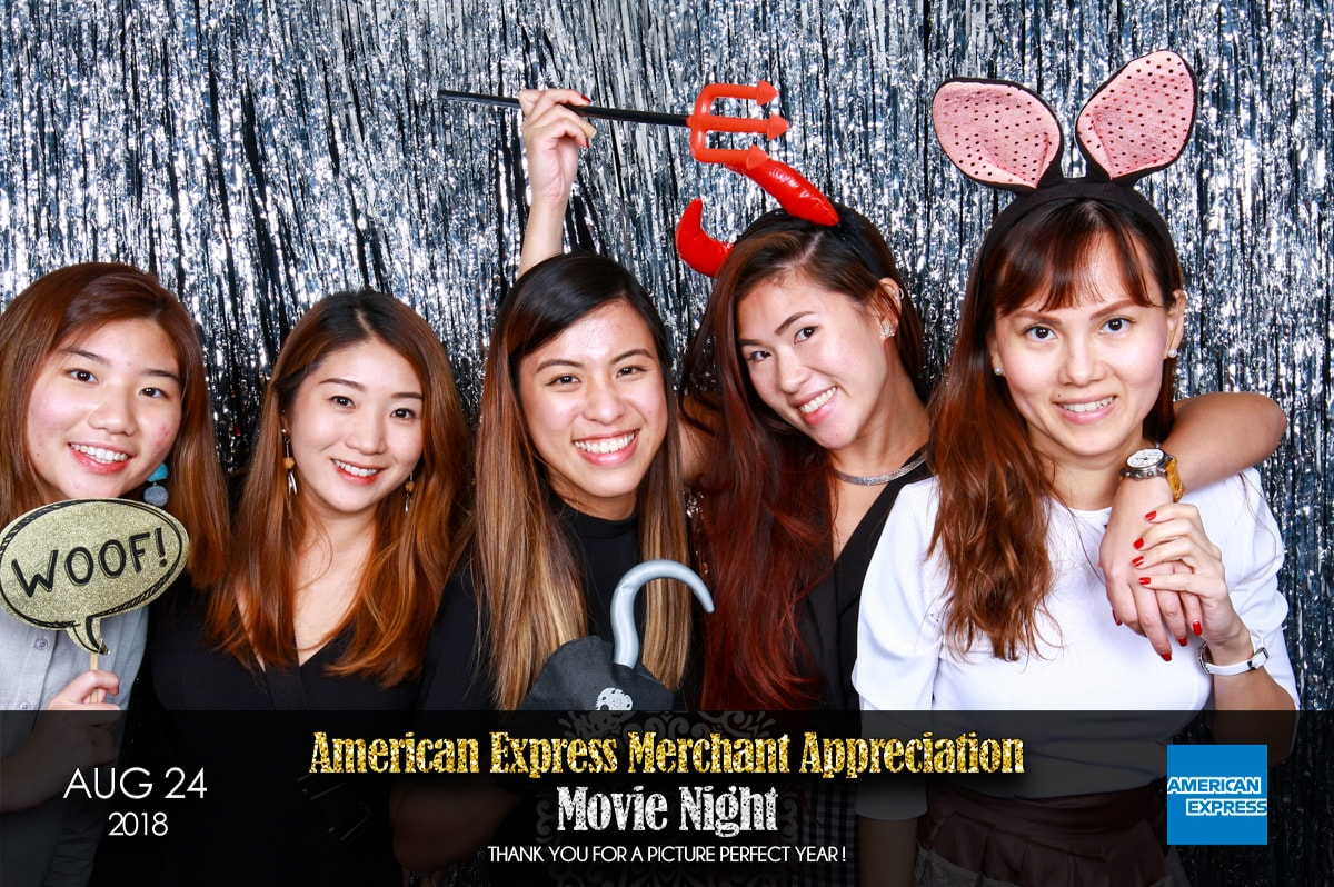 American Express Movie Night Event with Cloud Booth Photo Booth
