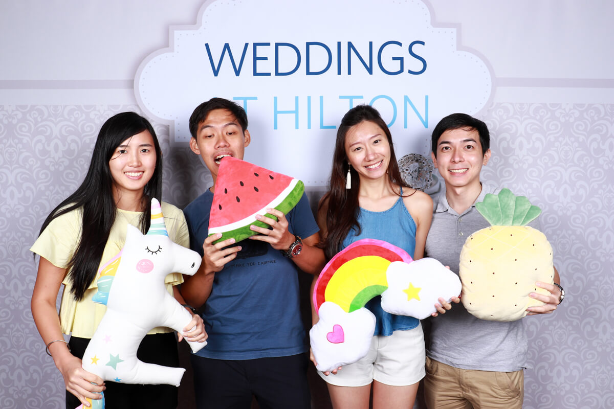 Cloud Booth Photo Booth at Hilton Singapore Wedding Showcase