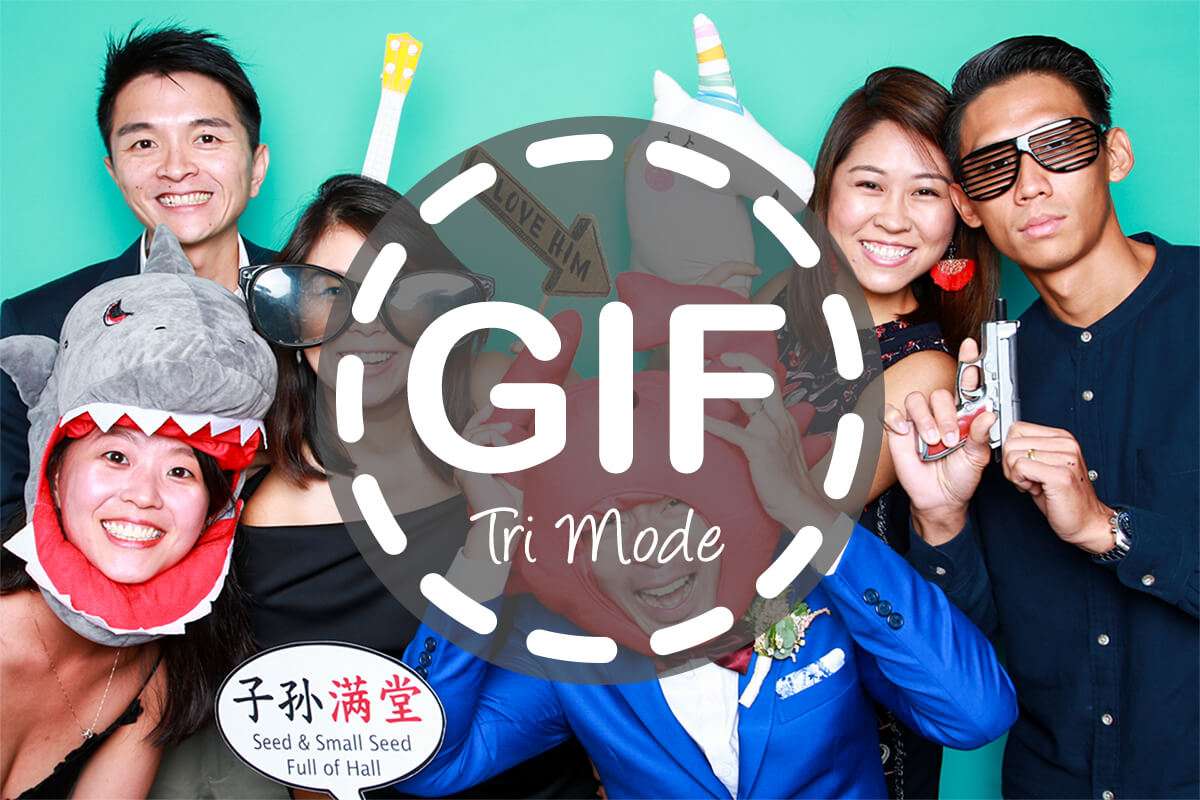 Cloud Booth GIF Is Now Tri Mode. Lets Guests Choose From Boomerang, Animated GIF and Photo Booth Modes for Triple the Fun